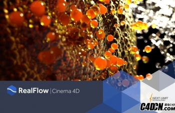 C4D流体插件v1.0.1.0095汉化版 Nextlimit Realflow Cinema 4D v1.0.1.0095