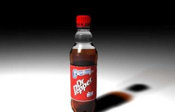 C4D瓶装可乐包装工程dr pepper bottle