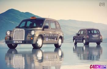 C4D模型 英伦TX4出租车模型