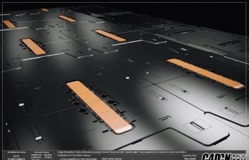 科幻的室内或展示或高科技的环境模型