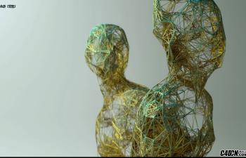 利用TP粒子和Python语言创建一个几何线条人物