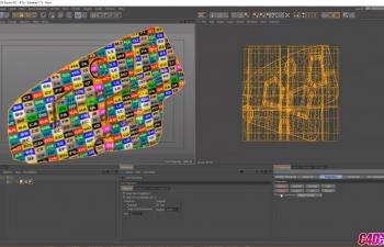 多边形对象模型展UV贴图C4D教程