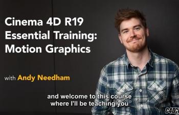 C4D教程 R19新版本运动图形训练教程 Lynda - Cinema 4D R19 Essential Training Motion Graphics