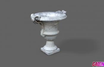 C4D模型 盧浮宮博物館花瓶雕塑模型