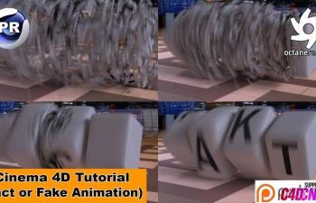 C4D教程:快速翻滚的文字块(动画)