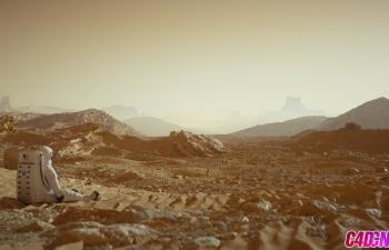OCtane渲染器制作写实火星地形环境景观建模材质渲染C4D教程