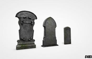 C4D墓碑模型