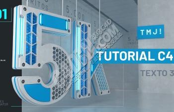 C4D使用样条线创建炫酷5K文字设计栏目包装教程