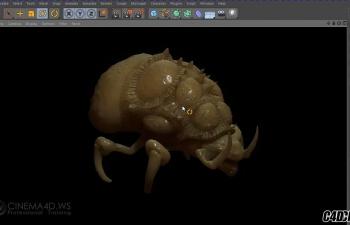 C4D甲虫怪兽模型雕刻教程(含工程)