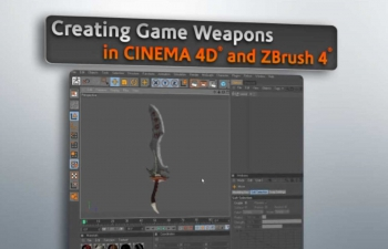DT数字导师 - 在CINEMA 4D和ZBrush 4中创建游戏武器C4D教程