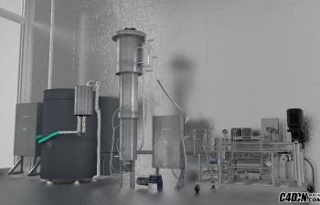 C4D工厂机械设备一角工程