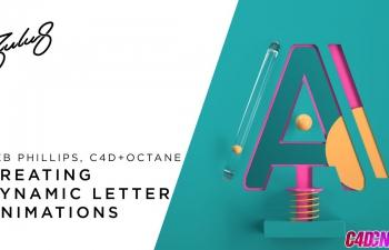 C4D教程  Octane Render中创建动态字母动画和渲染
