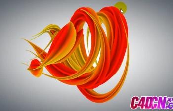 自带粒子配合追踪工具制作抽象螺旋艺术设计造型C4D教程