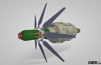 C4D空间宇宙飞船模型