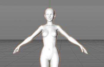 基础女模型-裸