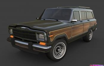 1991款吉普瓦格尼尔吉普车SUV城市越野汽车C4D模型 jeep wagoneer 1991