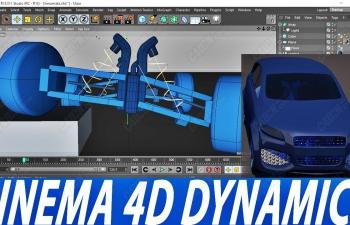 C4D汽车底架动力学连接器绑定教程