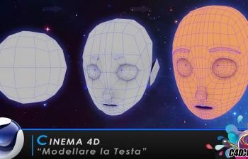 C4D人物头部角色建模教程(含三视图文件)