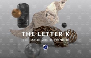 Arnold Render阿諾德渲染器字母K創意文字設計C4D教程