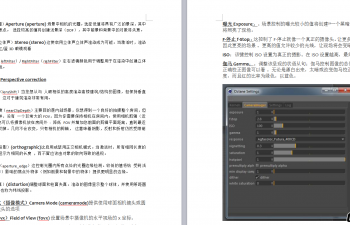 OC渲染器 各項屬性詳細說明
