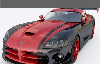 C4D汽车模型 道奇 Dodge Viper srt10 acr 2010