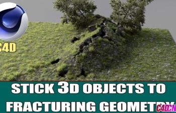 C4D教程 自带破碎工具模拟山崩地裂效果特效教程