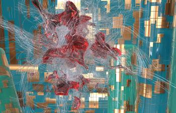 redshift渲染4号 流体、样条追踪练习