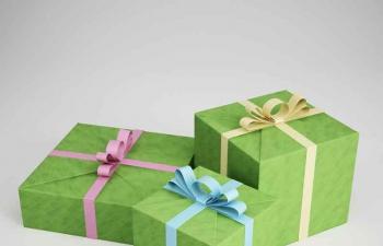 礼物盒礼品盒包装盒C4D模型