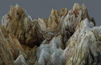 C4D山脉地形生态环境模型
