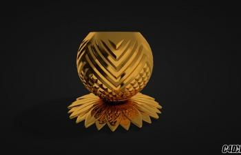 C4D模型 黄金摆件