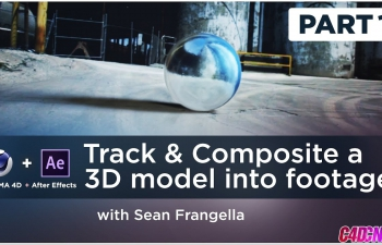 C4D+AE实景合成3D跟踪特效C4D教程