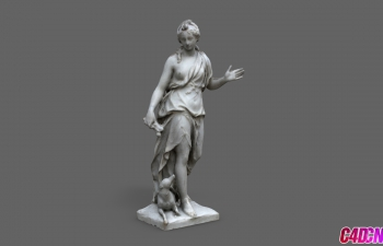 C4D模型 黛安女人女性人物雕塑模型