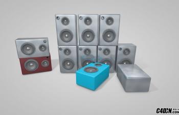 C4D音响低音炮模型
