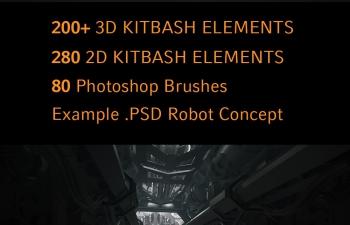 机械工具套装:200套3D+280套PS笔刷