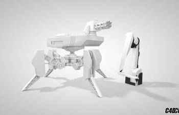 战争机器人和机械手臂 C4D模型