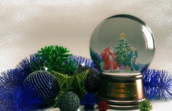 圣诞球 星星 水晶球等挂件
