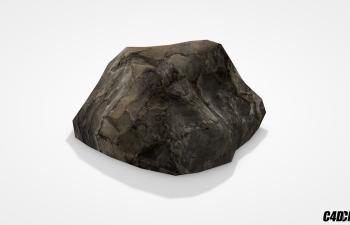 C4D超写实石头模型