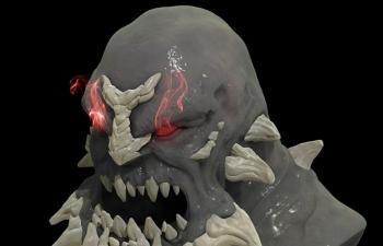C4D末日半兽人模型建模雕刻教程
