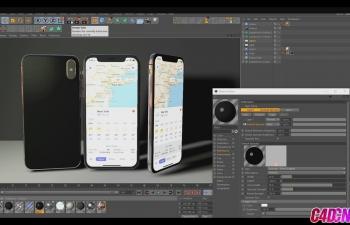 苹果X手机模型贴图建模C4D教程