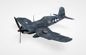 二战战斗机C4D模型含驾驶员