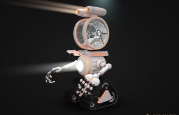 高精度载人操控履带式机器人模型