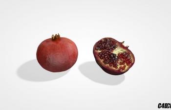 C4D水果模型 石榴