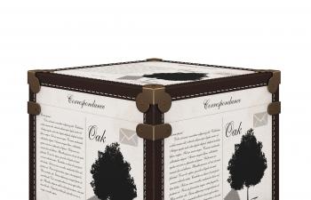 C4D模型 真皮储物箱子皮革储物柜模型