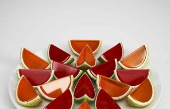 哈密瓜水果盘C4D模型