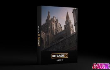 C4D模型 古欧洲城堡城市古建筑模型合集