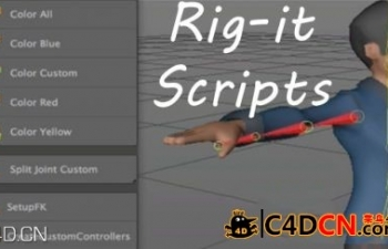 C4D骨骼绑定脚本 Cineversity Premium Rig It Scripts