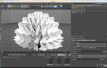 CINEMA 4D运动图形教程-增生过渡效果与渲染