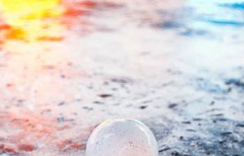 Octane渲染器石头地面上的珍珠C4D模型