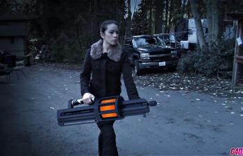 C4D实景合成.人物角色道具替换三维动画武器特效合成C4D教程