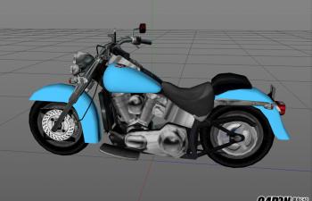 C4D模型 摩托车